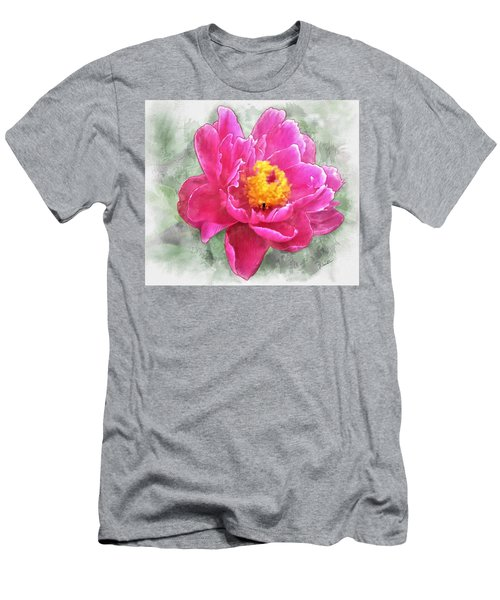 Peony And Bee Men's T-Shirt (Athletic Fit)