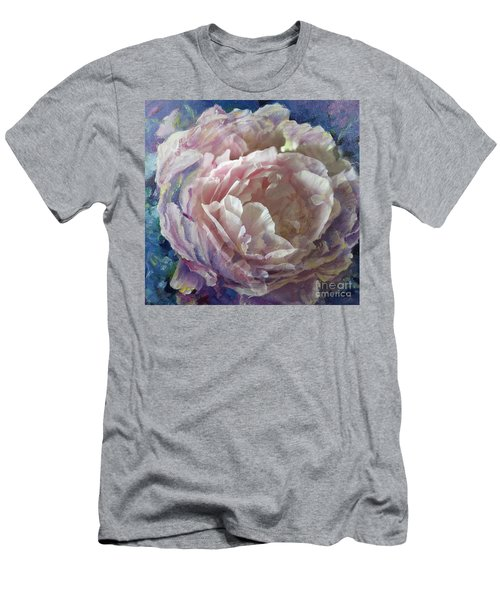 Men's T-Shirt (Athletic Fit) featuring the painting Peony -transparent Petals by Ryn Shell