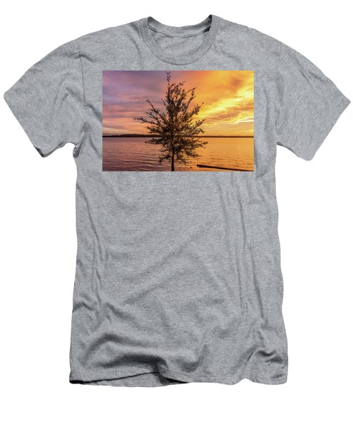 Percy Priest Lake Sunset Young Tree Men's T-Shirt (Athletic Fit)