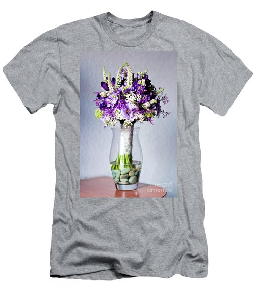 Perfect Bridal Bouquet For Colorful Wedding Day With Natural Flowers. Men's T-Shirt (Athletic Fit)
