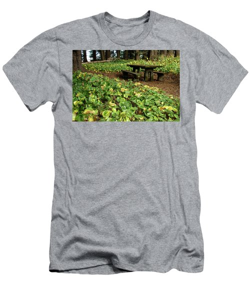 Picnic  Table In The Forest  Men's T-Shirt (Athletic Fit)