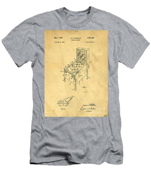 Pinball Machine Patent 1954 Men's T-Shirt (Athletic Fit)