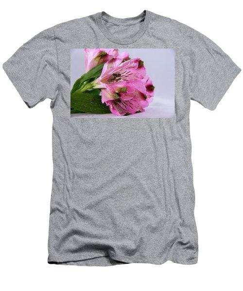 Pink Alstroemeria-4 Men's T-Shirt (Athletic Fit)