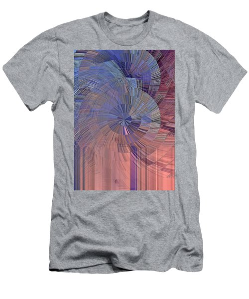 Pink, Blue And Purple Men's T-Shirt (Athletic Fit)