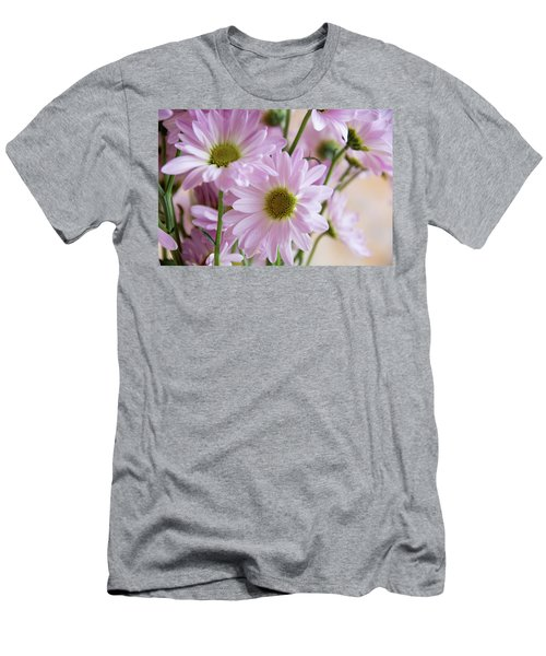 Pink Daisies-1 Men's T-Shirt (Athletic Fit)