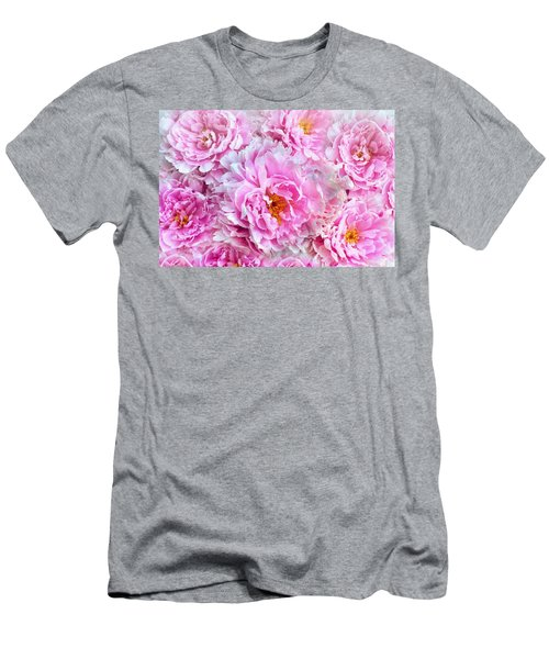 Pink Flowers Everywhere Men's T-Shirt (Athletic Fit)