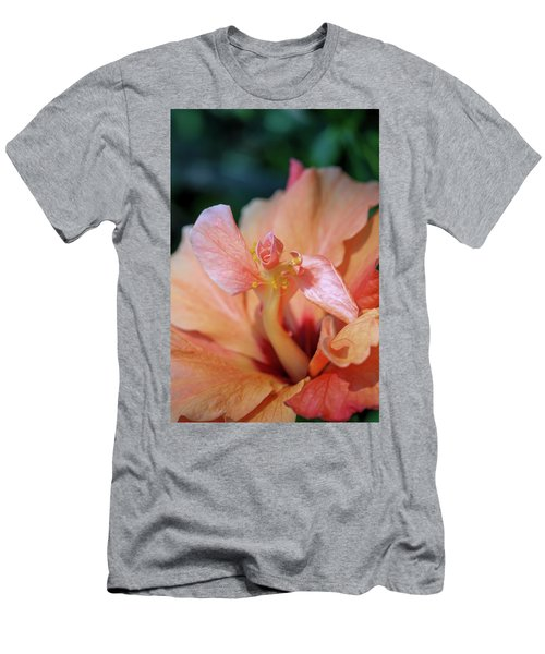Pink Hibiscus Flower Men's T-Shirt (Athletic Fit)