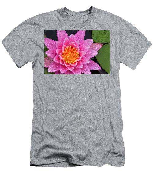 Pink Petals In The Rain  Men's T-Shirt (Athletic Fit)