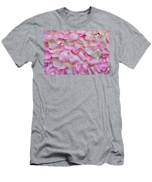 Pink Rose Petals Men's T-Shirt (Athletic Fit)