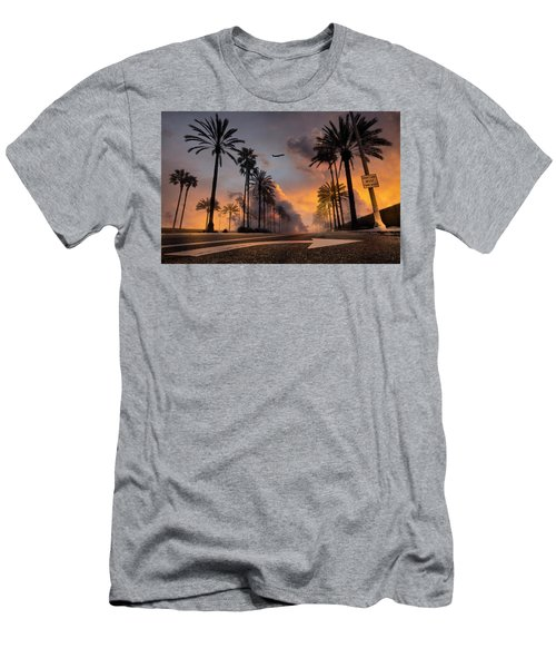 Men's T-Shirt (Athletic Fit) featuring the photograph Playa Vista by John Rodrigues