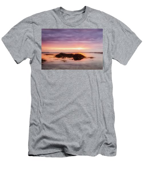 Men's T-Shirt (Athletic Fit) featuring the photograph Plum Cove Glow, Gloucester Ma. by Michael Hubley
