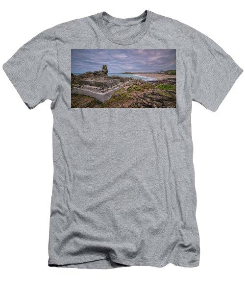 Porthmeor Beach January View Men's T-Shirt (Athletic Fit)