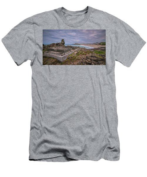 Porthmeor Beach January View Men's T-Shirt (Athletic Fit)