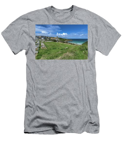 Porthmeor From Barnoon - St Ives Cornwall Men's T-Shirt (Athletic Fit)