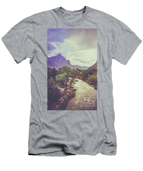 Postcard Image Men's T-Shirt (Athletic Fit)