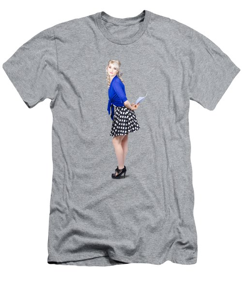 Pretty Housewife With Washing Cloth. Clean Style Men's T-Shirt (Athletic Fit)