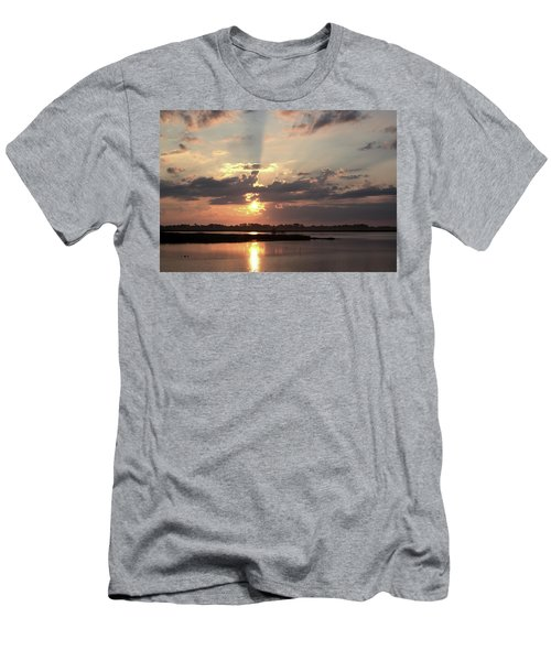Men's T-Shirt (Athletic Fit) featuring the photograph Prime Hook Sunrise 3 by Buddy Scott
