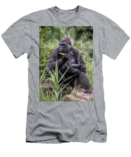 Proud Mama Silverback 6243 Men's T-Shirt (Athletic Fit)