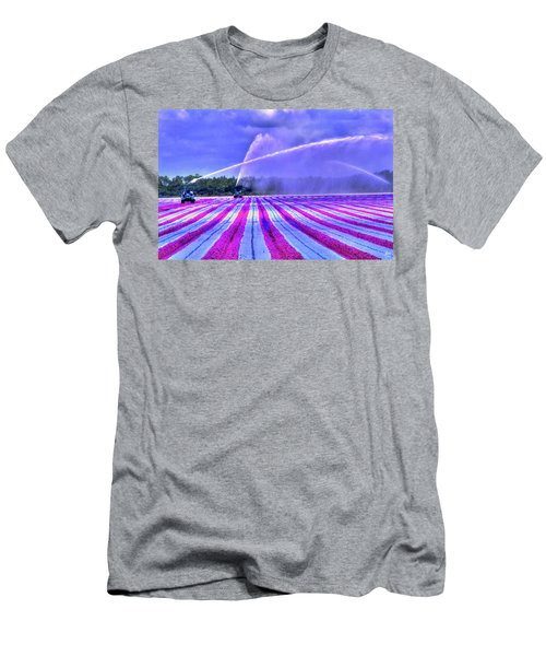 Men's T-Shirt (Athletic Fit) featuring the photograph Purple Grain by Wayne King