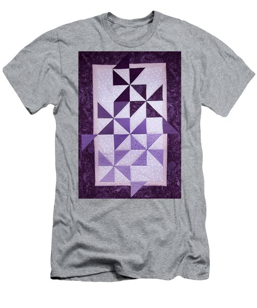 Purple Pinwheels Pirouetting Men's T-Shirt (Athletic Fit)