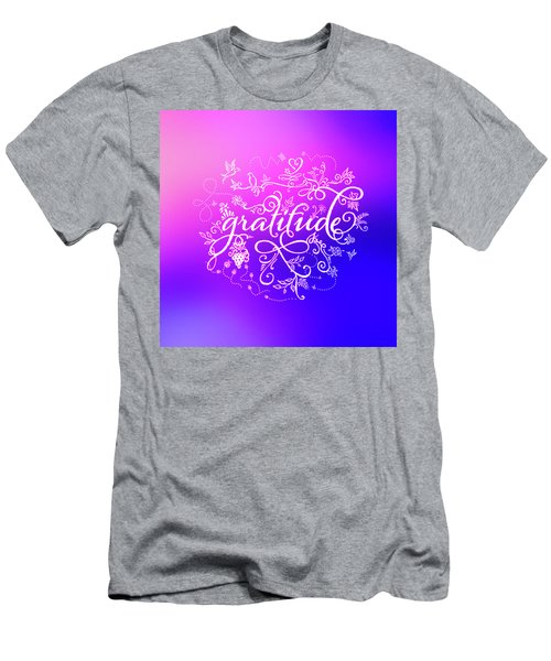 Purply Pink Gratitude Men's T-Shirt (Athletic Fit)