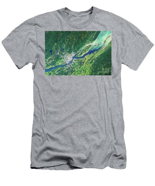 Quebec City From Space Men's T-Shirt (Athletic Fit)