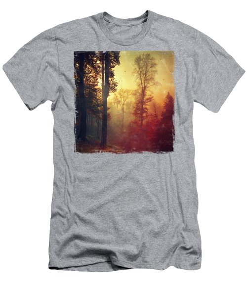 Quiet Morning - Misty Fall Forest Men's T-Shirt (Athletic Fit)