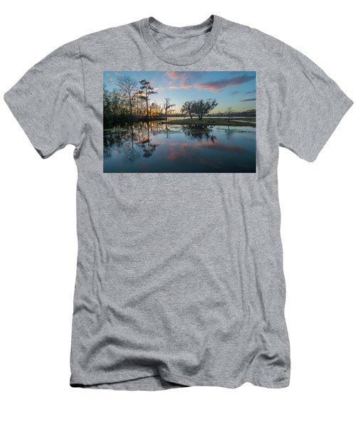 Quiet River Sunset Men's T-Shirt (Athletic Fit)