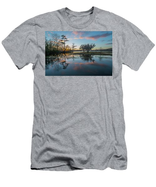 Quiet River Sunset Men's T-Shirt (Athletic Fit)