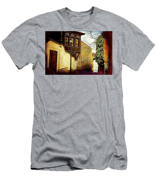 Men's T-Shirt (Athletic Fit) featuring the photograph Quiet Street by Milena Ilieva