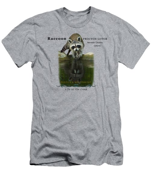 Raccoon Puzzler And Mastermind Men's T-Shirt (Athletic Fit)