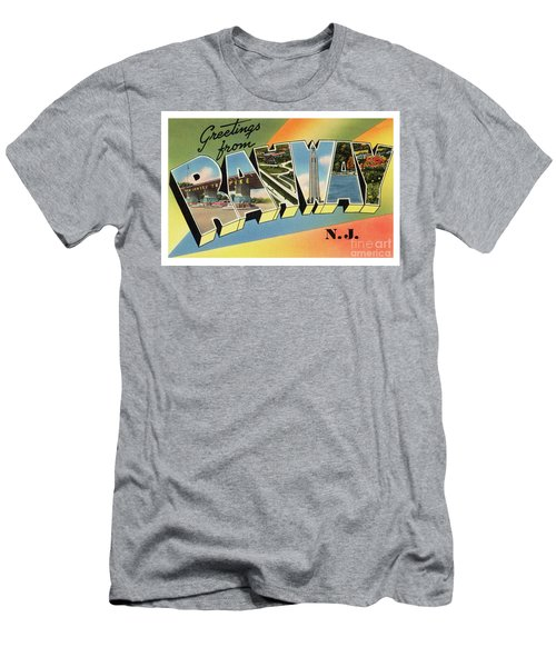 Men's T-Shirt (Athletic Fit) featuring the photograph Rahway Greetings by Mark Miller
