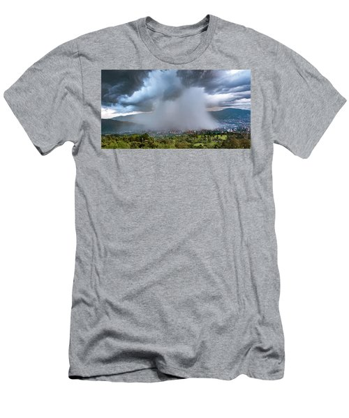 Men's T-Shirt (Athletic Fit) featuring the photograph Rain Storm Over Medellin by Francisco Gomez