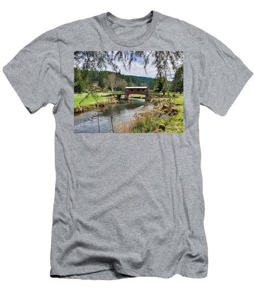 Ranch Hills Covered Bridge Men's T-Shirt (Athletic Fit)
