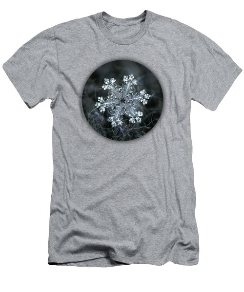 Men's T-Shirt (Athletic Fit) featuring the photograph Real Snowflake - 26-dec-2018 - 1 by Alexey Kljatov