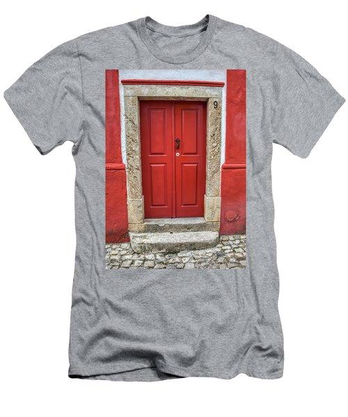 Red Door Nine Of Obidos Men's T-Shirt (Athletic Fit)