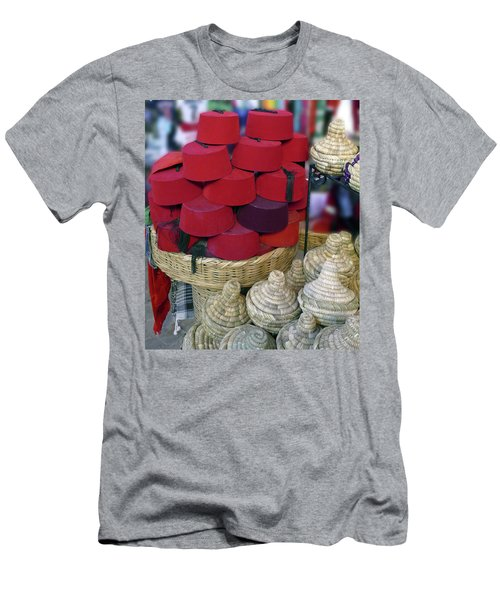 Red Fez Tarbouche And White Wicker Tagine Cookers Men's T-Shirt (Athletic Fit)