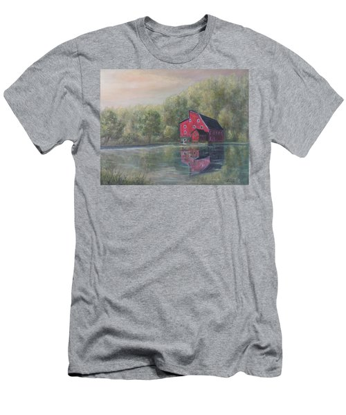 Red Mill Clinton New Jersey Men's T-Shirt (Athletic Fit)