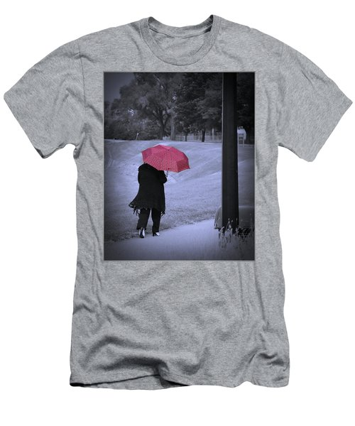 Red Umbrella Men's T-Shirt (Athletic Fit)