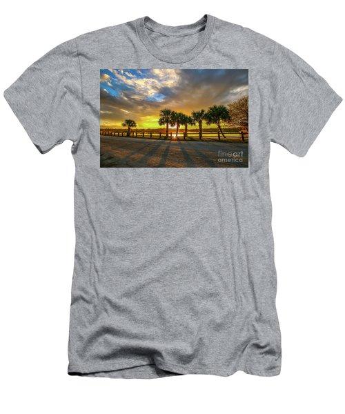 Reflected Sunburst Men's T-Shirt (Athletic Fit)