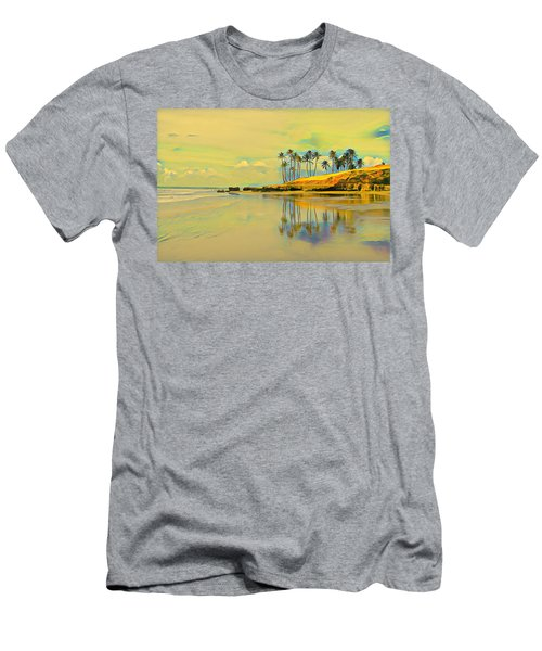 Reflection Of Coastal Palm Trees Men's T-Shirt (Athletic Fit)