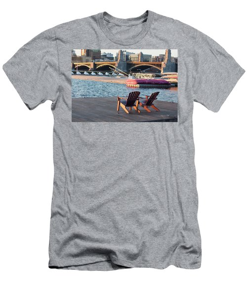 Relaxing On The River Men's T-Shirt (Athletic Fit)