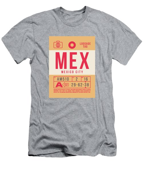 Retro Airline Luggage Tag 2.0 - Mex Mexico City International Airport Mexico Men's T-Shirt (Athletic Fit)
