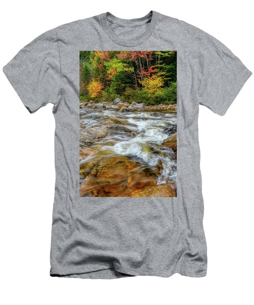Men's T-Shirt (Athletic Fit) featuring the photograph River Cross, Swift River Nh by Michael Hubley