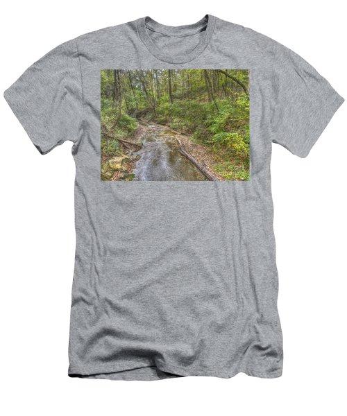 River Flowing Through Pine Quarry Park Men's T-Shirt (Athletic Fit)