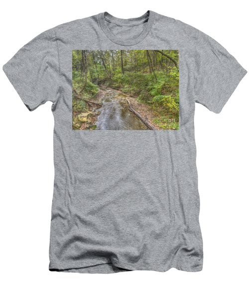 River Flowing Through Pine Quarry Park Men's T-Shirt (Athletic Fit)