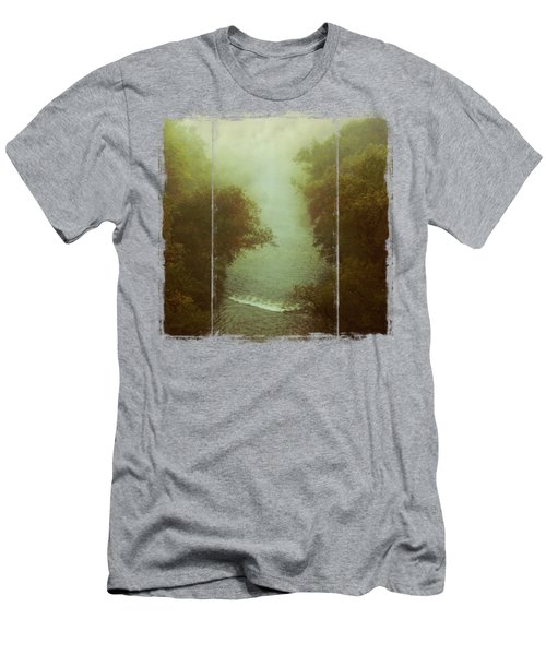 River In Fog Men's T-Shirt (Athletic Fit)
