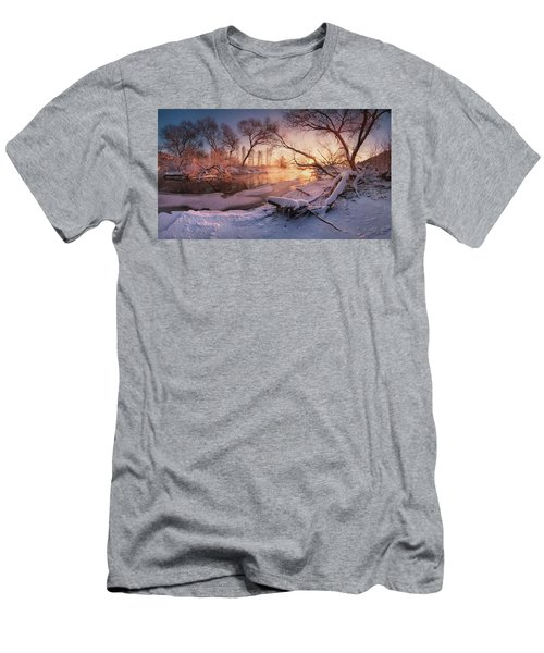 River Portraiture In Evening Light Men's T-Shirt (Athletic Fit)