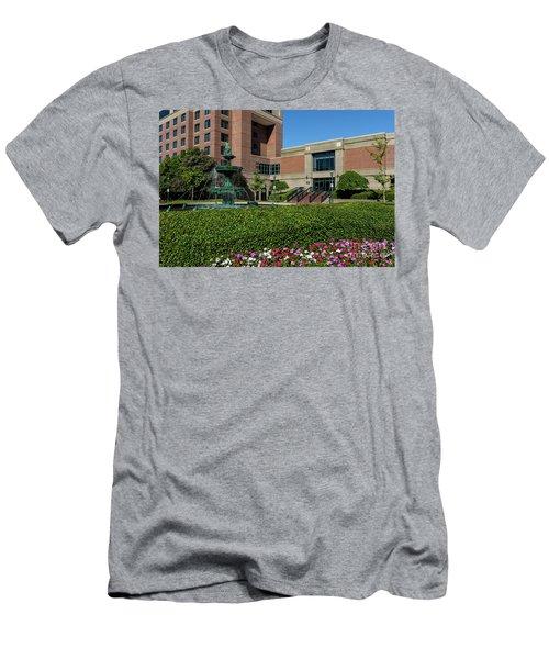 Riverwalk Augusta Ga Fountain Men's T-Shirt (Athletic Fit)