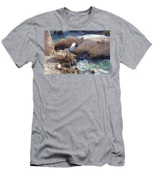 Rocks At Montana De Oro Men's T-Shirt (Athletic Fit)